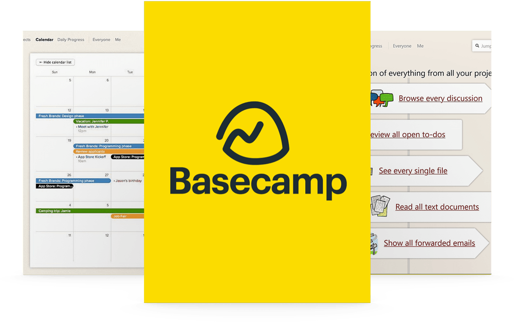 Project Managed in Basecamp